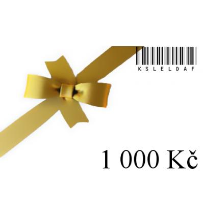 Dárkový certifikát-1000