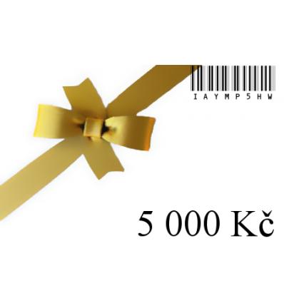 Dárkový certifikát-5000