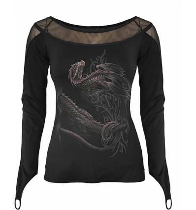 SERPENT WRAP dámské tričko s dlouhým rukávem