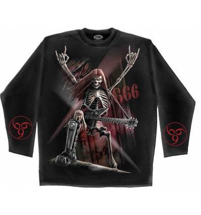 Tričko METALHEAD s dlouhým rukávem